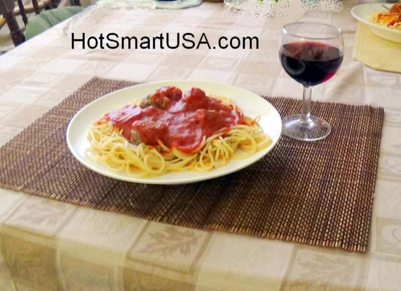 Spaghetti and Meat Balls on a HotSmart