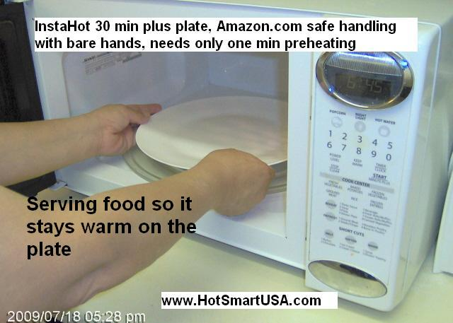 Just preheat one minute and handle it with your bare hands. That's it!